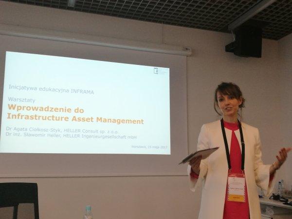 Dr Agata Ciołkosz-Styk rozpoczyna warsztaty INFRAMA
