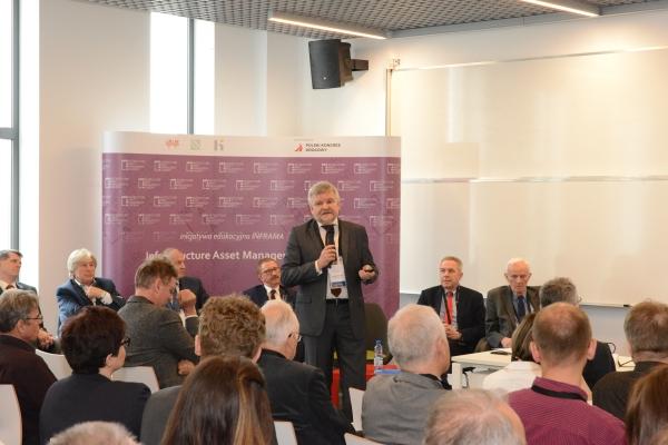 Jarosław Waszkiewicz na Inauguracji Akademii INFRAMA