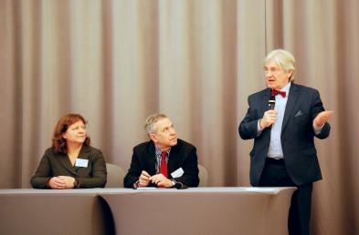 dr Ewa Michalak (PRz), dr Sławomir Heller i Zbigniew Kotlarek (prezes PKD) podsumowują konferencję. Zdjęcie: Mateusz Szarata